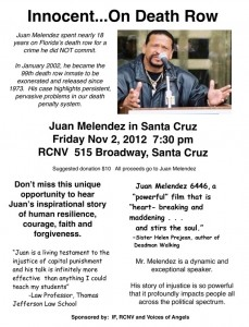 Juan Melendez in Santa Cruz CA Nov 2, 2012